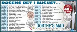 Dorthes Mad august 2014