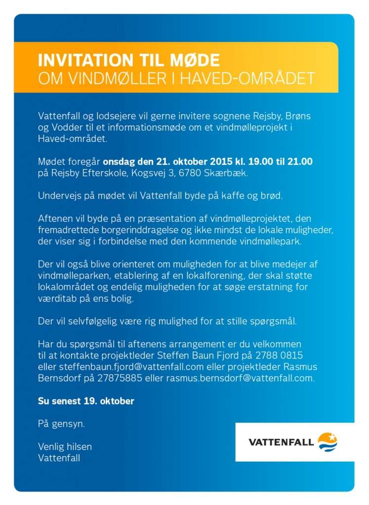 Invitation Vattenfall